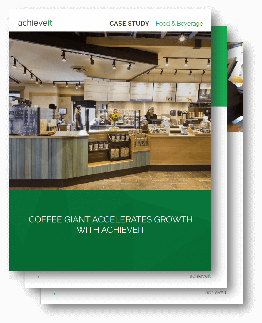 AchieveIt Case Study - Coffee Giant Accelerates Growth Case Study